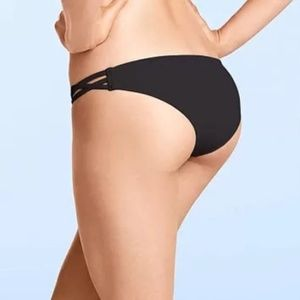 Victoria's Secret Black Cheeky Bikini Bottoms S/M